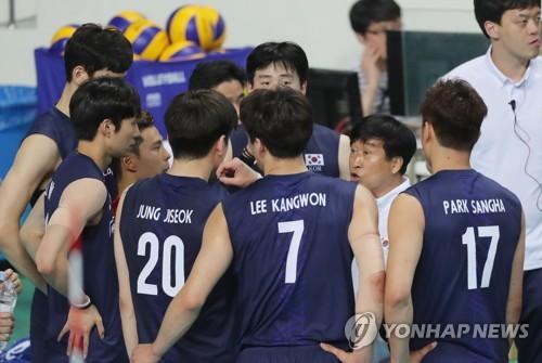 한국 남자배구, 세계 3위 폴란드에 0-3 완패