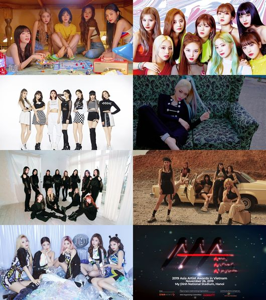 (G)I-DLE, ITZY, Kim Chung Ha, LOONA, Momoland, Red Velvet, TWICE