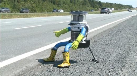 차 얻어타는 '히치봇' 6000km 캐나다 횡단 성공