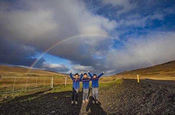 송일국 아들 삼둥이, 아이슬란드에서 포착 '폭풍성장'