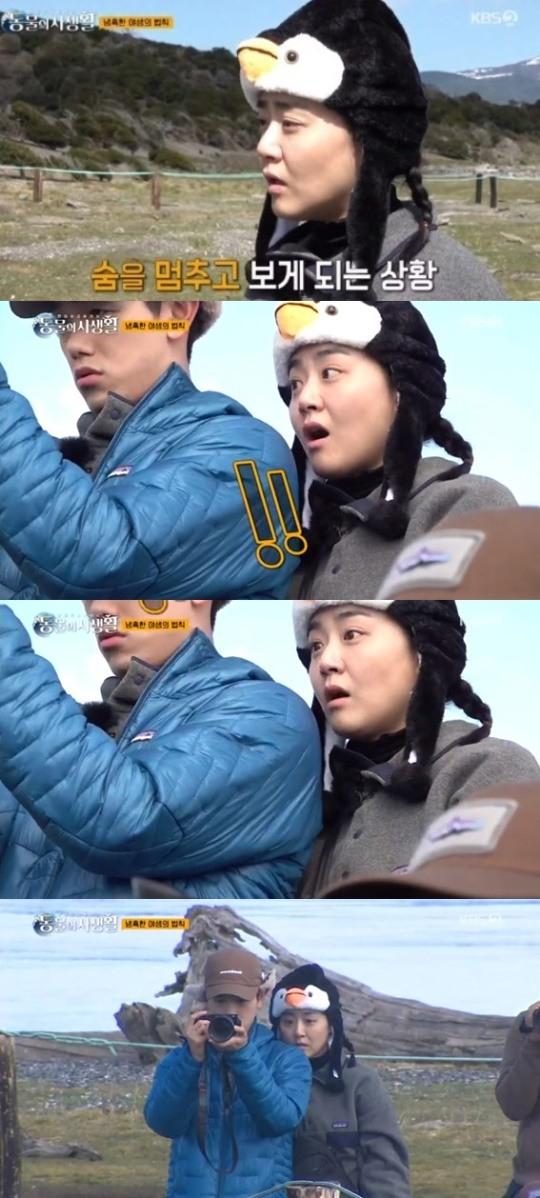 """[포인트1분] 문근영, 펭귄의 모습 보며...""""경이로워"""""""