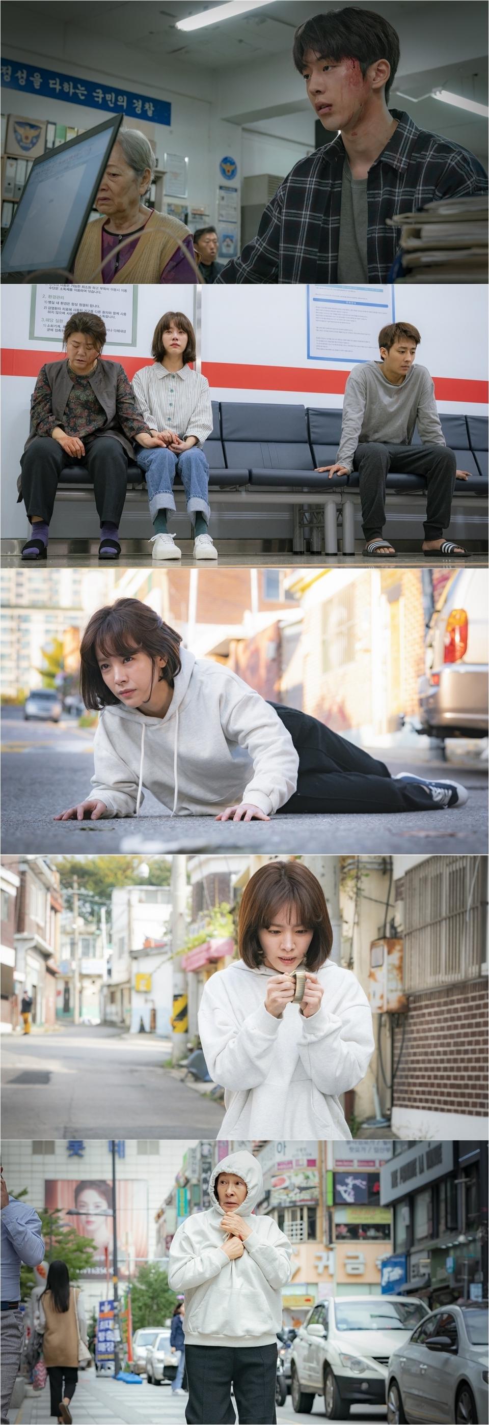 '눈이 부시게' 스물다섯 한지민, 70대 김혜자 되나 '위기 일발'
