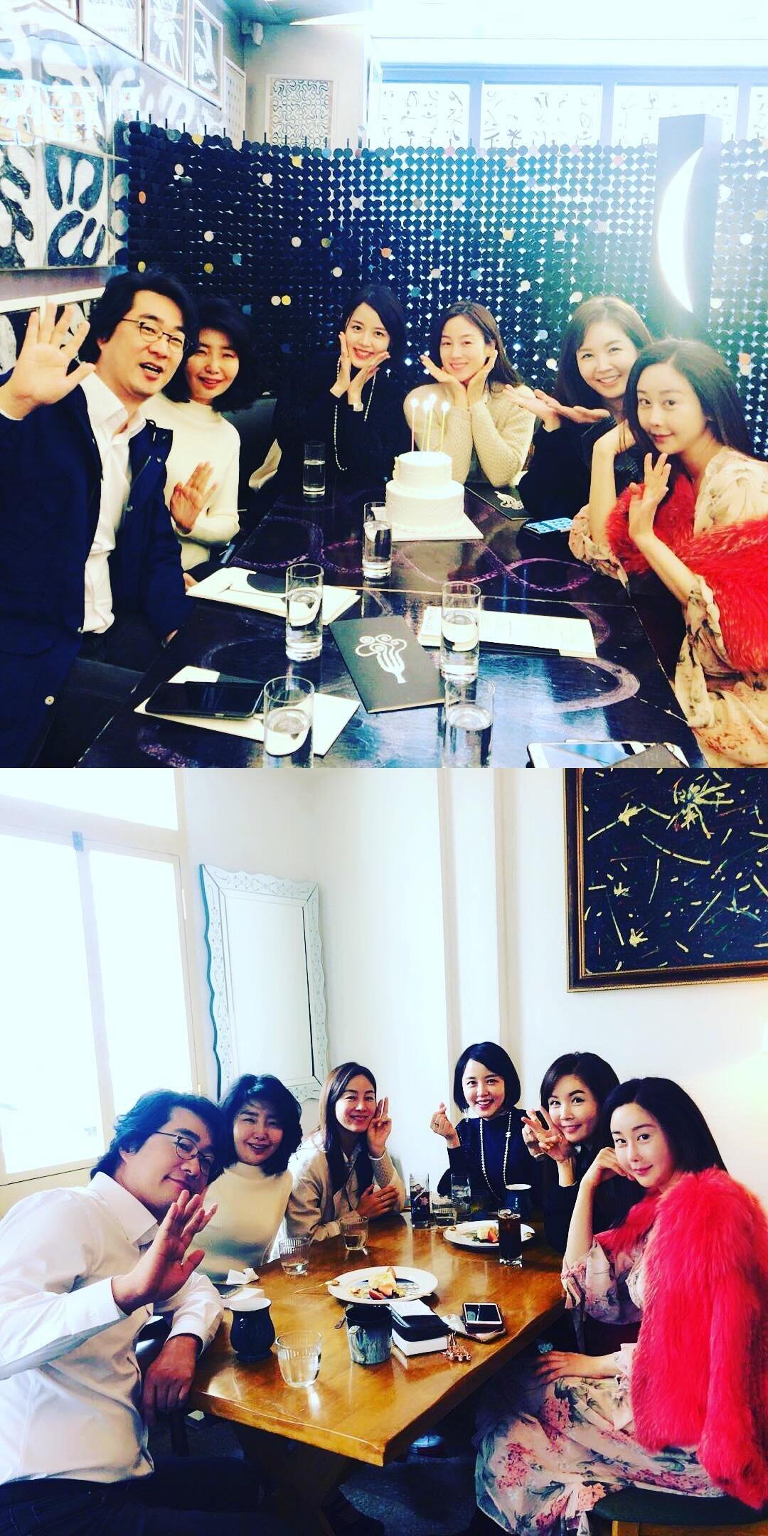 함소원, 출산 후 '아내의 맛' 출연진들과 생일파티…끈끈한 의리 자랑