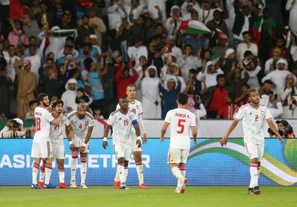 '아시안컵 개최국' 아랍에미리트, 인도에 2-0 승리… A조 선두 질주