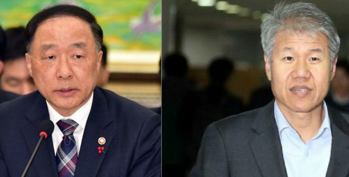 홍남기 경제부총리, 김수현 정책실장 빠르면 오늘 인사