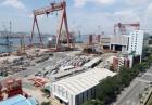 작업물량 '0' 현대중 해양공장…말뫼의 크레인도 멈춰