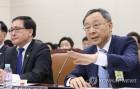 """국회 불려온 황창규, 여야 질타에 진땀…""""지금 다보스 갈 때냐""""(종합)"""