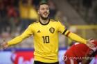 '아자르 멀티골' 벨기에, 유로예선서 러시아에 3-1 승리