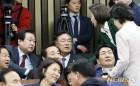 나경원 원내대표와 김무성, 정진석 의원