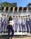 """""""꺅! 횡재""""...이혜영, 워너원 포스터 앞에서 워너블 팬심 폭발"""