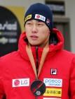 윤성빈, 월드컵 7차 대회서 동메달