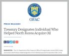 美, 北 석유 거래 도운 러시아 태생 1명 추가 제재…올들어 10번째