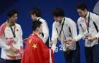 일본, 亞수영스타 총출동한 자유형 200m 릴레이서 금메달