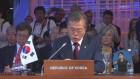 문 대통령, 펜스 美 부통령과 만남 …한반도 비핵화 논의