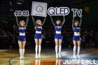 삼성 치어리더 '자유투 성공시키고 QLED TV 받아가세요'