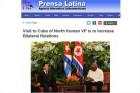 북한 최룡해, 쿠바 방문…북-쿠바 형제적 유대관계 강화