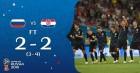 크로아티아, 승부차기(4-3) 끝에 러시아 꺾고 20년 만의 4강…잉글랜드와 대결