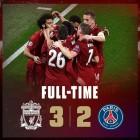 '챔피언스리그' 리버풀 PSG 중계(스포티비 나우) 끝…리버풀, PSG에 3-2 승리