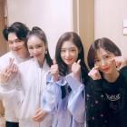 """이사강♥론, '안녕하세요' 출연 인증 """"다이아 채연·예빈이랑"""""""