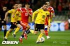 '아자르 2골' 벨기에, 러시아 3-1 잡고 유로 예선 첫 승