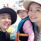 """안현수♥우나리, 괌 가족여행..""""딸 미소가 더 빛나는"""""""
