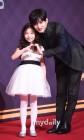 신린아,김민석 '삼촌과 다정한 하트'
