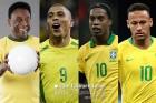 펠레 후계자 종결: 호나우두 1위-호나우지뉴 2위-네이마르 11위(ESPN)