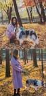 김효진, 둘째 임신 중 강아지와 산책 '여전한 미모'