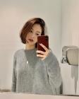 김재경, '칼단발+빨간립'으로 완성한 여신 미모