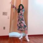 선미, 화려한 꽃무늬 원피스…워너비 스타일링