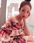 박민영, 올림머리+ 시원하게 드러낸 어깨 '여름 패션의 정석'