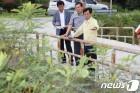 태풍 대비 현장점검하는 김한근 시장