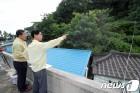 태풍 피해 예상 지역 둘러보는 김한근 시장
