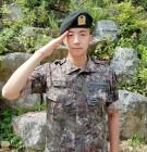 2PM 우영, 5주 기초군사훈련 마무리 '핼쑥·늠름한 자태'