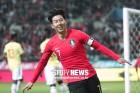 '손흥민 벤투 체제 첫골' 한국, 콜롬비아 2-1 격파…6G 연속 A매치 매진