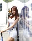 서한-퍼플 모터스포트 레이싱모델 유다솜, 푹염도 잊게하는 '베이글녀'