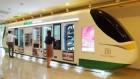 '세븐일레븐 익스프레스', 11m 열차 모양 자판기에 200개 품목 한가득