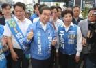 박원순, 공식 선거운동 마지막 주말 강남 집중 유세