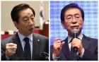 """연일 막말 자칭 '들개' 김성태 vs """"선 넘지 마라"""" 경고 박원순"""