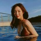 """'김정훈♥' 김진아, 비키니 인증샷보니? 인형 미모 """"어푸어푸"""""""