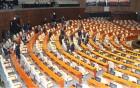 한국·바른미래당 불참에 텅 빈 국회 본회의장