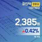 장마감보고서 16일 파인텍주가 2,385원으로 장 마감