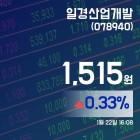 (종목추적) 22일 일경산업개발주가 1,515원