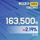 장마감보고서 22일 롯데제과주가 163,500원 마감해