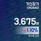 (국내주가정보) 24일 기신정기주가 3,675원