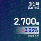 (종목상세정보) 21일 파인텍현재 주식 거래가격 2,700원