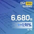 (장종리포트) 19일 마감 대교주가 6,680원으로 장 마감