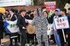 2019수능, 얼룩말까지 나타난 후배 응원전