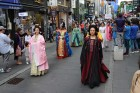 경주시, 서울 인사동 거리에서 '신라문화제' 홍보 위한 퍼포먼스 펼쳐