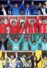 창원성산 국회의원 보궐선거 후보 7명 출정식… 황교안·손학규·이정미 총출동